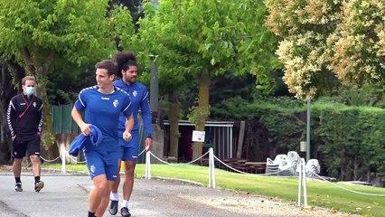 Entrenamiento de Osasuna en Tajonar a solo 24 horas de recibir al Celta en Pamplona