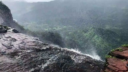 Slow motion of waterfall