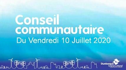 Conseil de la Communauté Urbaine de Dunkerque du Vendredi 10 Juillet 2020 (Replay)