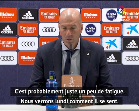 "35e j. - Zidane : ""Benzema ? Rien de grave"""