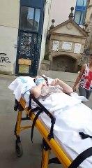 Recibimiento en Logroño a una mujer tras cuatro meses en la UCI