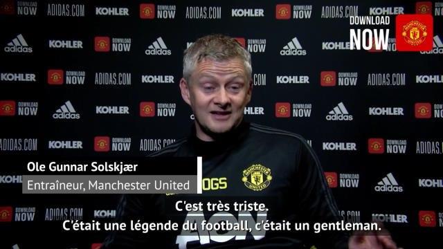 """Décès - Solskjar : """"Charlton était une légende"""""""