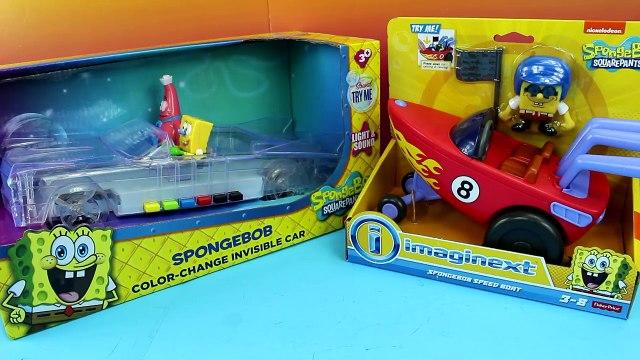 Spongebob Squarepants Color Change Invisible Car Imaginext Spongebob Speedboat