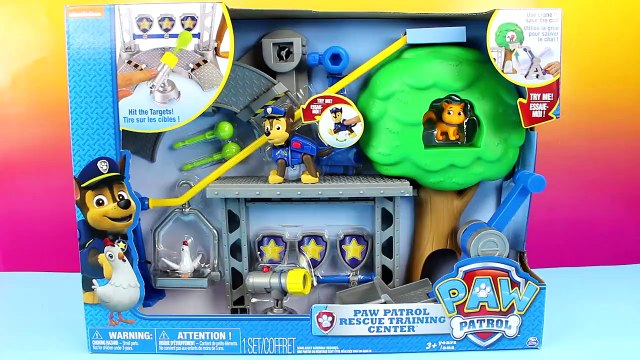 Paw Patrol Rescue Training Center with Chase Nickelodeon Marshal Rocky Rubble Ryder Zuma