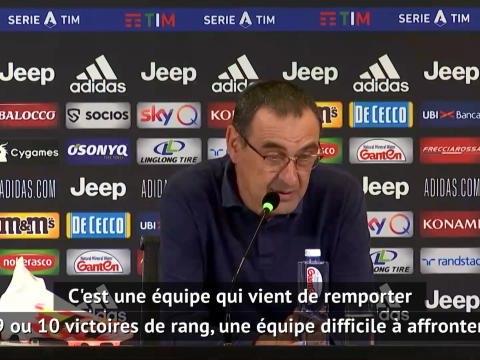 """32e j. - Sarri : """"Un point important contre l'une des équipes les plus en forme d'Europe"""""""