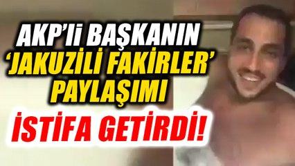 AKP'li başkanın sosyal medyaya düşen görüntüleri istifa getirdi!