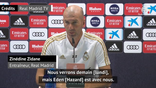 """36e j. - Zidane : """"Hazard est avec nous"""""""