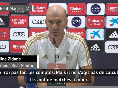 36e j. - Zidane ne veut pas parler du titre