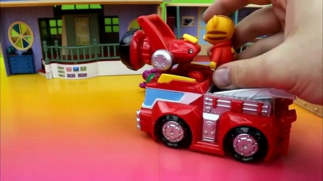 Daniel Tigers First Day of School with Barney Rescue Bots Rescue Squad Mater Lightning McQueen Fire