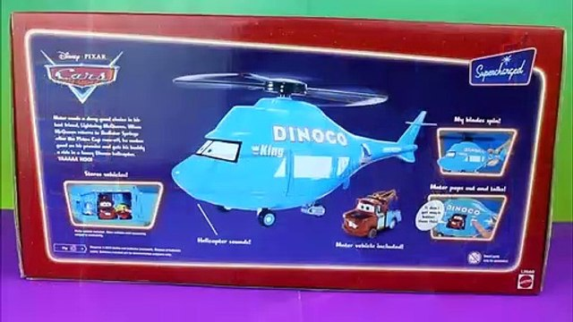 Disney Pixar Cars Dinoco Helicopter with Mater Lightning McQueen Just4fun290