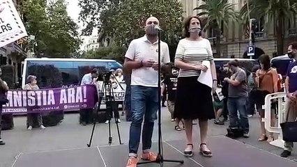 Mauri i Paluzie participen a l'acte pels 1.000 dies de presó de Sànchez i Cuixart
