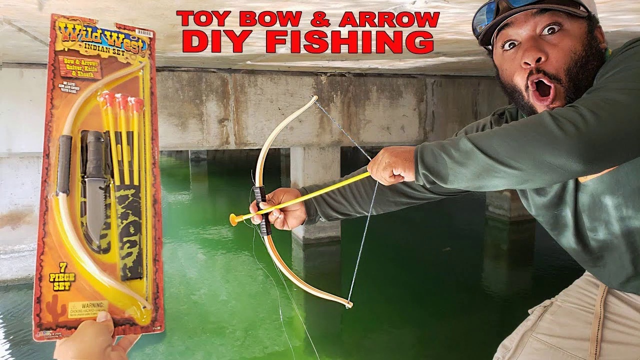 DIY Toy BOW and ARROW Fishing