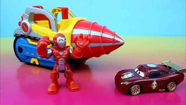Playskool Heroes Marvel Super Hero Adventures Repulsor Drill Iron Car McQueen Joker