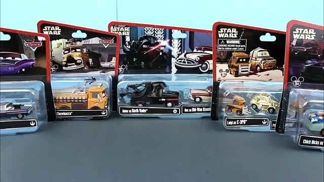 Star Wars Disney Pixar Cars Doc as Obi-Wan, Luigi as C-3PO, Ramone as Han Solo, Filmore Chewbacca