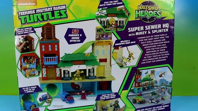 Teenage Mutant Ninja Turtles Super Sewer HQ Mikey Splinter Save Disney Frozen ANNA TMNT