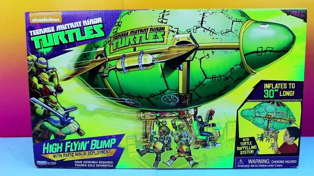 Teenage Mutant Ninja Turtles TMNT High Flyin' Blimp Nickelodeon Mikey Donnie Raph Leo