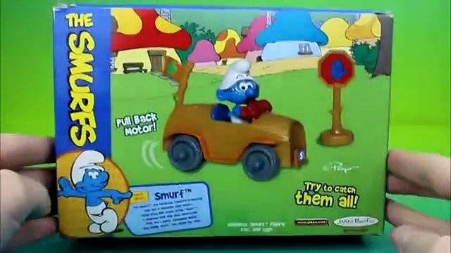 The Smurfs Smurf Vehicle Brainy drives into Gargamel & Dave the minion shows up!