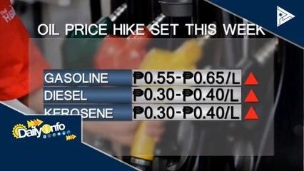 Panibagong oil price hike, asahan ngayong linggo