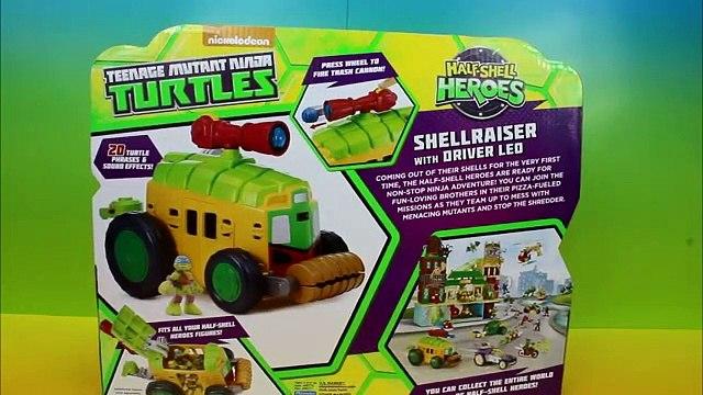 Teenage Mutant Ninja Turtles Half Shell Heroes Shellraiser with Driver Leo and Caillou