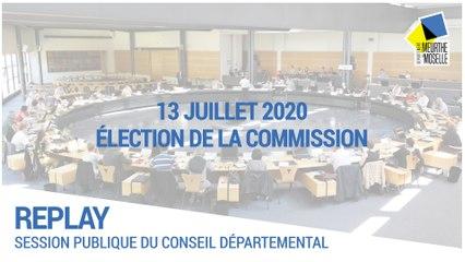 Session du 13 juillet 2020 : élection de la commission permanente et des vice-présidents