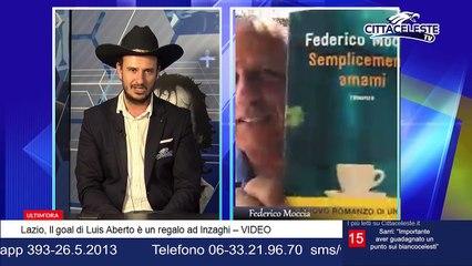 """Federico Moccia a CITTACELESTE TV: """"La Lazio è il mio libro preferito"""""""