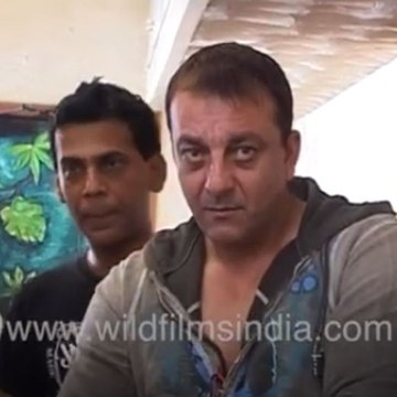 Sanjay Dutt records song for a film with Anand Raj Anand, mobbed by the media