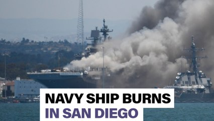 Fire breaks out on Navy ship