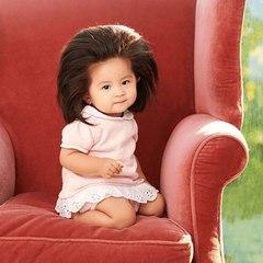 Baby Chanco nació con una cabeza llena de cabello