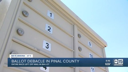 Entire race missing from Pinal county mail-in ballot