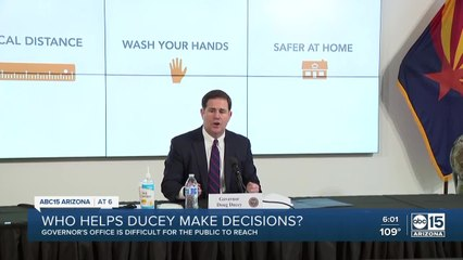 Who helps Gov. Ducey make decisions?