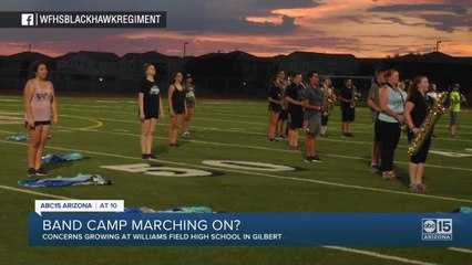 Concerns growing as Williams Field HS plans band camp