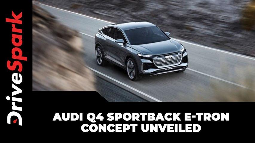 Audi Q4 Sportback e-Tron Concept Unveiled   Expected Launch, India Arrival, Features & Other Details