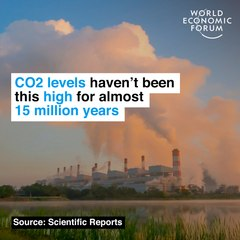 CO2 levels haven't been this high for almost 15 million years