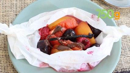 Recette des papillotes de fruits d'été - 750g