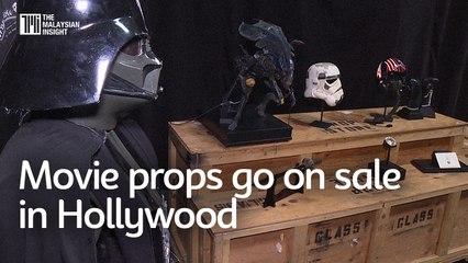 Top Gun helmet, Star Wars lightsaber, Alien spaceship go on sale in Hollywood