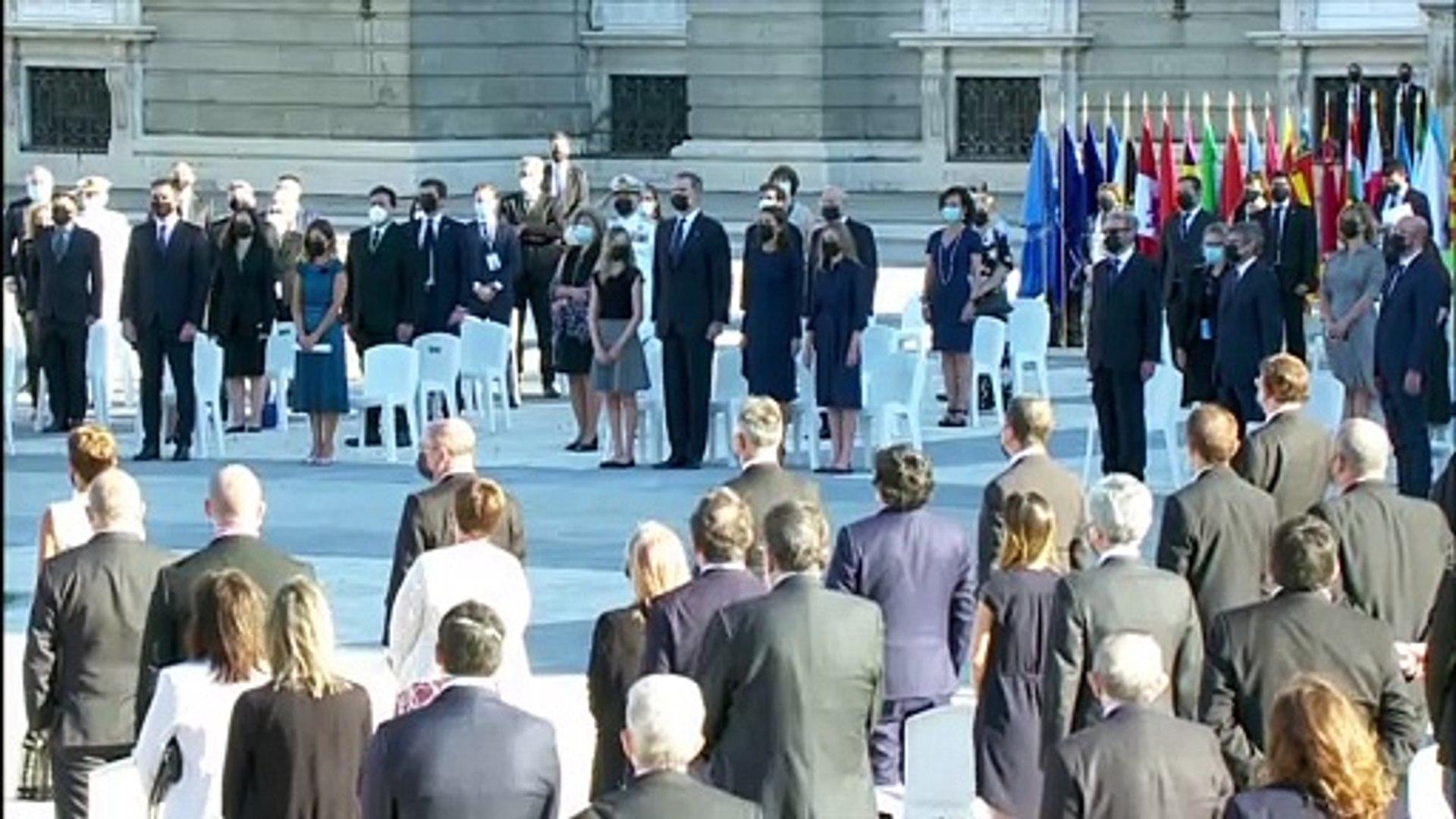Suena himno de España en el inicio del Homenaje de Estado a ...