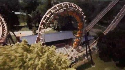 Drone Takes Us On Virtual Ride Through Theme Park
