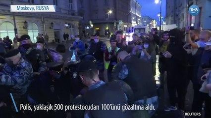 Moskova'da Putin Protestosu