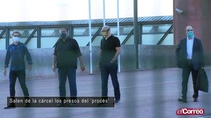 Salen de la cárcel los presos del 'procés'