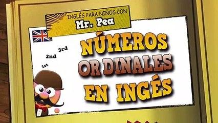 Números Ordinales en Inglés - Inglés para niños con Mr.Pea