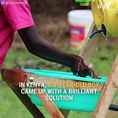 9-Year-Old Kenyan Boy Creates Hand Washing Machine
