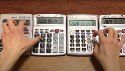 Guy Covers 'Shape Of You' By Ed Sheeran... On Calculators!