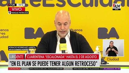 Horacio Rodríguez Larreta anuncia nueva extensión de la cuarentena