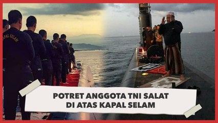 Potret Anggota TNI Salat di Atas Kapal Selam