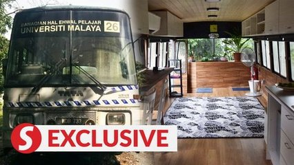 Old UM bus upcycled into chic living space