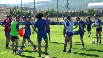 Entrenamiento de Osasuna en Tajonar antes del último partido de liga frente al Mallorca