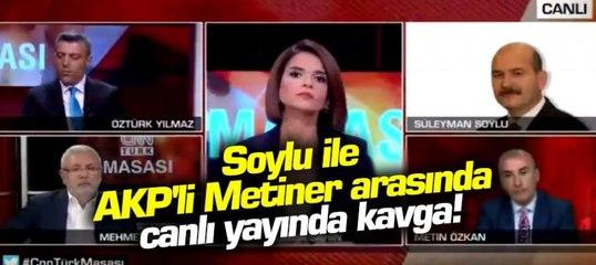 AKP'li Mehmet Metiner ile Bakan Süleyman Soylu canlı yayında kavga etti!