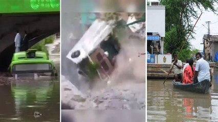 Delhi Rains: Watch Building Collapsed | Minto Bridge కిందుగా కొట్టుకొచ్చిన మృతదేహం || Oneindia