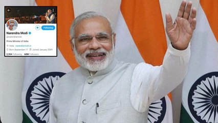 PM Modi Crosses 60 Million Followers On Twitter || Oneindia Telugu