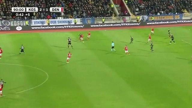 Le superbe but de Pierre-Emile Hojbjerg avec le Danemark